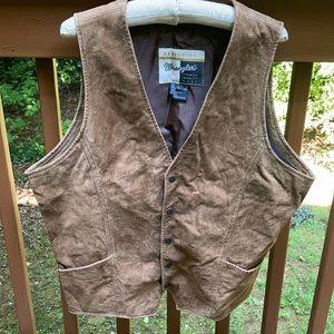 Wrangler leather suede vest